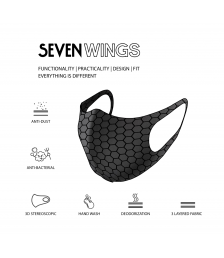 Face Mask, reusable washable with Triple layer protection well fitted Hand made 3D fashionable sports mask