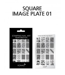 Image Plate 01-Stamping nail art template (stainless steel) reusable nail plates