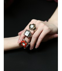 Womens Finger Ring Watch for Christams Valentine's Day